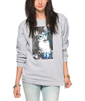 Empyre Fresh Cat Glasses Crew Neck Sweatshirt
