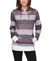 Empyre Frostier Blackberry Stripe Tech Fleece Hoodie