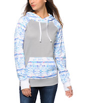 Empyre Frosty Grey & Tribal Tech Fleece Hoodie