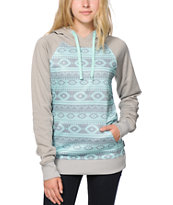 Empyre Frosty Mint Tribal Tech Fleece Hoodie