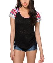 Empyre Garrett Blanket Stripe Sleeve T-Shirt