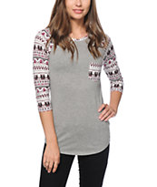 Empyre Georgina Native Print Baseball Tee
