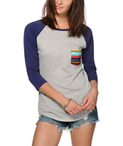 Empyre Georgina Tribal Stripe Pocket Baseball Tee