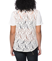 Empyre Girl Fern Vanilla Lace T-Shirt