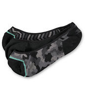 Empyre Girls 3-Pack BTW Camo Chevron No Show Socks
