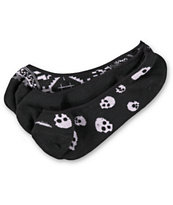 Empyre Girls 3 Pack FTW Skull Black No Show Socks