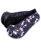 Empyre Girls 3 Pack OMG Galaxy Print No Show Socks