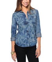 Empyre Girls Aberdeen Indigo Button Up Shirt