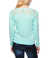 Empyre Girls Amelia Ice Green Lace Top