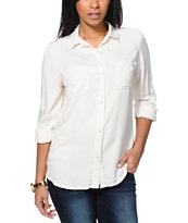 Empyre Girls Arvada Natural Lace Button Up Shirt