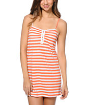 Empyre Girls Aubree Coral Confetti Stripe Dress