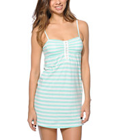 Empyre Girls Aubree Ice Green Confetti Stripe Dress