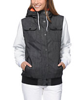 Empyre Girls Bad Beat Charcoal Denim 10K Snowboard Jacket 2014