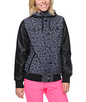 Empyre Girls Bad Beat Leopard Print 10K Snowboard Jacket 2014