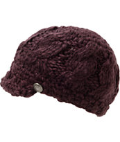 Empyre Girls Bianca Black Cherry Visor Beanie