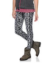 Empyre Girls Black & White Native Print Leggings