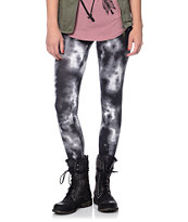 Empyre Girls Black Tie Dye Leggings