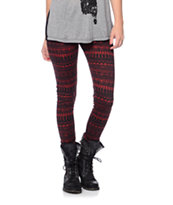 Empyre Girls Brick & Black Tribal Print Leggings