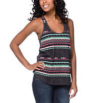 Empyre Girls Casey Zebra Stripe Nine Iron Racerback Tank Top