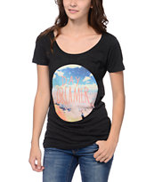 Empyre Girls Day Dreamer Charcoal Tri-Blend Tee Shirt
