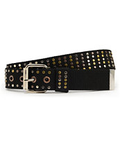 Empyre Girls Dazzled Black Multi Stud Belt