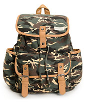 Empyre Girls Emily Camo Print Rucksack Backpack