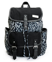 Empyre Girls Emily Grey Leopard Rucksack Backpack