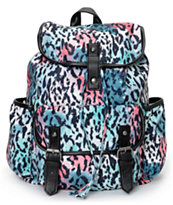 Empyre Girls Emily Leopard Print Rucksack Backpack