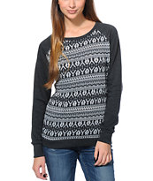 Empyre Girls Frankie Charcoal Pullover Crew Neck Sweatshirt