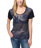 Empyre Girls Hadley Celestial Black Chiffon Top
