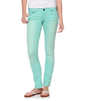 Empyre Girls Hannah Ice Green Mint Skinny Jeans