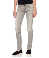 Empyre Girls Hannah Light Grey Skinny Jeans
