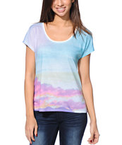 Empyre Girls Hatfeild Photo Print Vanilla Sublimated Tee Shirt