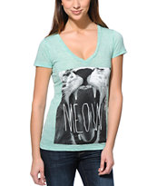Empyre Girls Hear Me Roar Mint V-Neck Tee Shirt