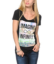 Empyre Girls Imagine Black Tee Shirt