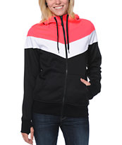 Empyre Girls Insignia Pink & Black Tech Fleece Jacket