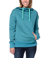 Empyre Girls Isabel Double Dye Teal Pullover Tech Fleece Jacket