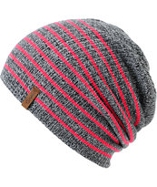 Empyre Girls Juliet Neon Pink Stripe Beanie