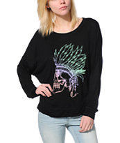 Empyre Girls Kaden Headdress Black Long Sleeve Dolman Top