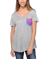 Empyre Girls Kessler Galaxy Pocket Grey Tee Shirt