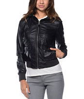 Empyre Girls Kingston Black Bomber Jacket