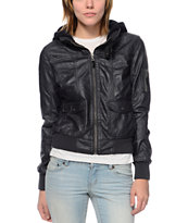 Empyre Girls Kingston Dark Grey Bomber Jacket