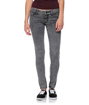 Empyre Girls Logan Black Acid Wash Skinny Jeggings
