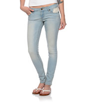 Empyre Girls Logan Crochet Sunbleach Skinny Jeggings