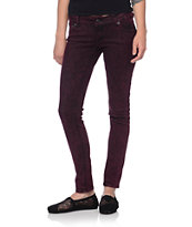 Empyre Girls Logan Zinfandel Acid Wash Skinny Jeggings