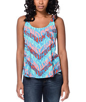 Empyre Girls Loni Animal Chevron Multicolor Pocket Tank Top