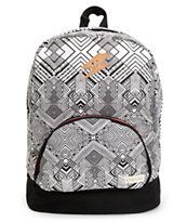Empyre Girls Lucy Black & White Geo Print Backpack
