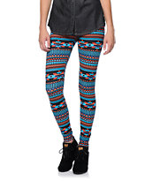 Empyre Girls Multicolor Tribal Print Black Leggings