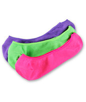 Empyre Girls Neon 3-Pack No Show Socks