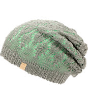 Empyre Girls Noble Mint & Grey Reversible Lace Beanie